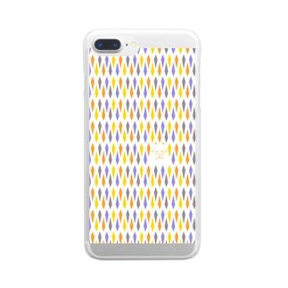 ねこおばけ Clear smartphone cases