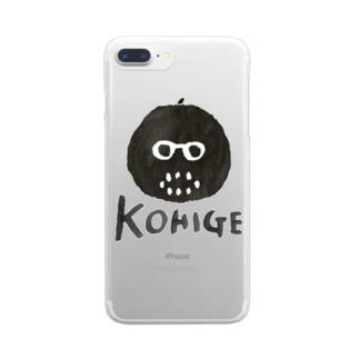 黒髭ロゴ Clear smartphone cases