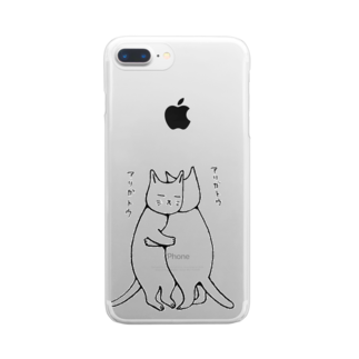 mikepunchのねこハグ Clear smartphone cases