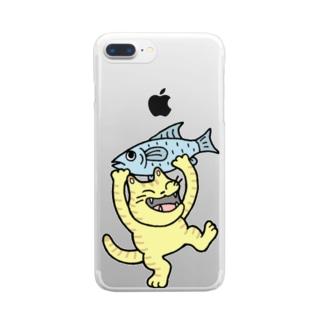 お魚ゲット~♪ Clear smartphone cases