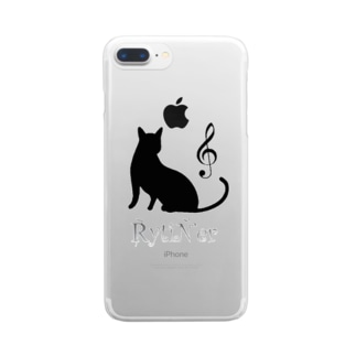 music cat Clear smartphone cases