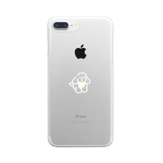 いぬ リボン Clear smartphone cases