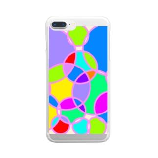アサガオ Clear smartphone cases
