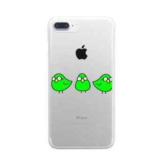 めがわるいとり Clear smartphone cases
