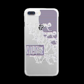 向浦宏和のVHS Clear smartphone cases