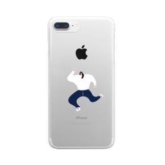 走る女の子 vol.2 Clear smartphone cases