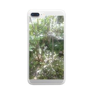 yuru-nekoのハチワレ 森猫    Clear smartphone cases
