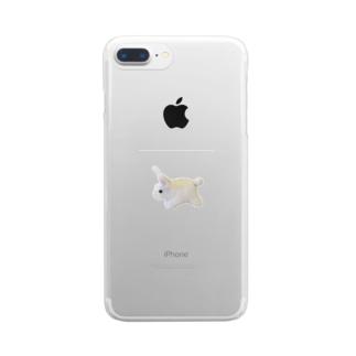縫い兎 Clear smartphone cases