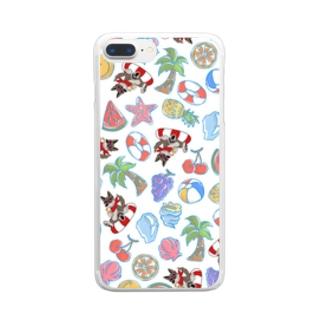 真夏のクッキー総柄シリーズ Clear smartphone cases