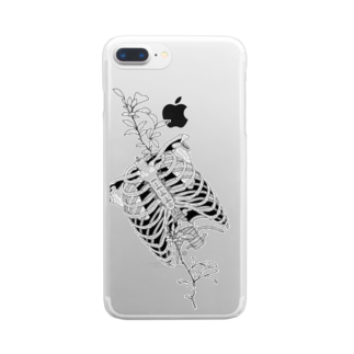 I'm not a robotのRibs Clear smartphone cases