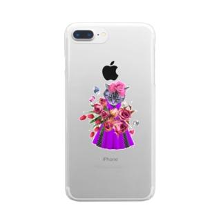 おしゃれぬこ Clear smartphone cases