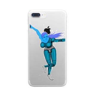 ボーリングアンドロイド Clear smartphone cases