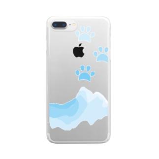 水遊びした肉球 Clear smartphone cases