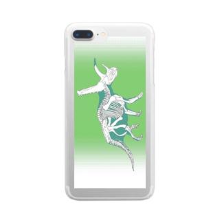 JPKサイエンスシリーズ Triceratops Clear smartphone cases