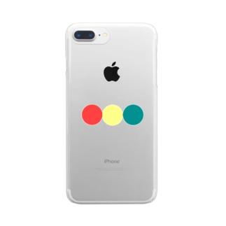 信号色のまんまる Clear smartphone cases