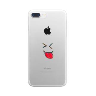 べ~ Clear smartphone cases
