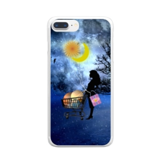 惑星ショッピング Clear smartphone cases