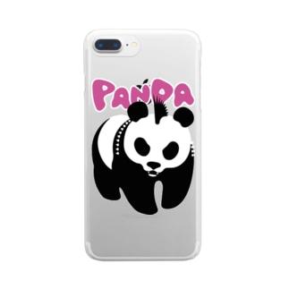 パンクパンダ Clear smartphone cases