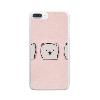 くまくまくま Clear smartphone cases