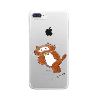 たぬねこ1 Clear smartphone cases