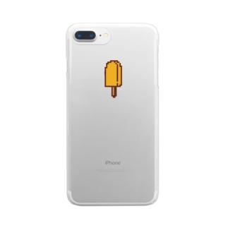 アイスキャンディ(オレンジ)  Clear smartphone cases