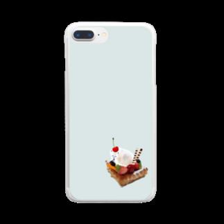 iPhonecakeのシロクマデザート Clear smartphone cases