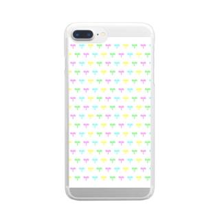 カラフルな芽 Clear smartphone cases