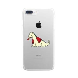 ちびドラゴン Clear smartphone cases