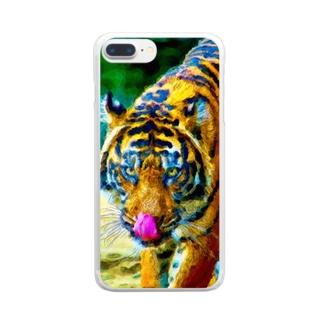 トラ01 Clear smartphone cases