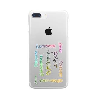 爬虫類 ゲッコー  Clear smartphone cases