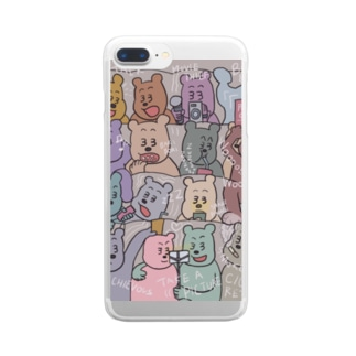 manner bear Clear smartphone cases