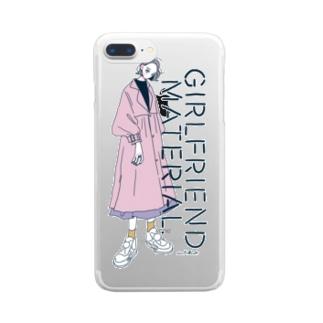 GIRLFRIEND MATERIAL クリアスマートフォンケース