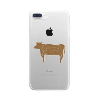 部位 Clear smartphone cases