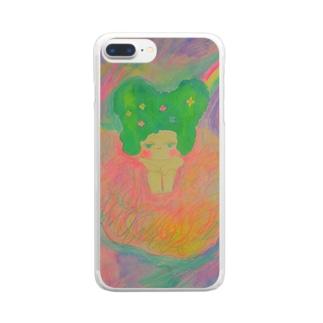 雲に乗るハンメちゃん Clear smartphone cases