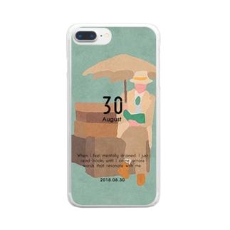 【2018.08.30】新井リオの英語日記グッズ Clear smartphone cases