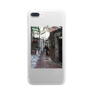 まはちゃん Clear smartphone cases