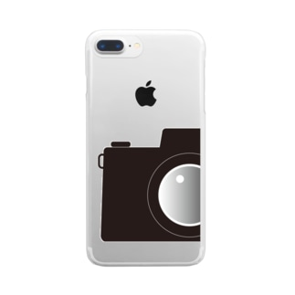 カメラ B Clear smartphone cases