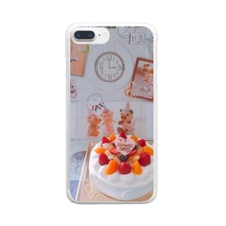 お誕生日 Clear smartphone cases