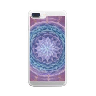 Mandala Mariのサハスラーラパドマ Clear smartphone cases