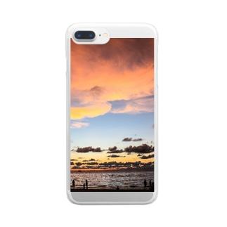 あなたと見たいプーケットの夕日 Clear smartphone cases