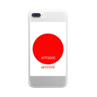 にほんカラー Clear smartphone cases