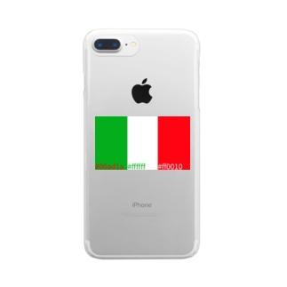 いたりあカラー Clear smartphone cases