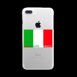 yoshica's design caféのいたりあカラー Clear smartphone cases