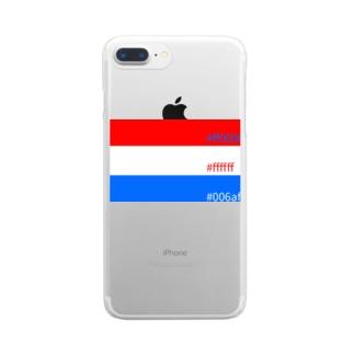 おらんだカラー Clear smartphone cases