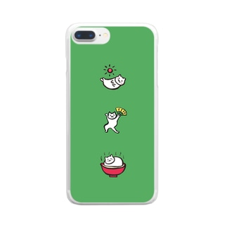 ねこたち Clear smartphone cases