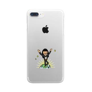 【ウシ子さん】とうちゃく Clear smartphone cases