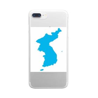 統一朝鮮旗 General Korea flag Clear smartphone cases