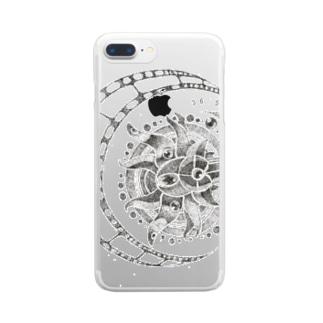 太陽と月 Clear smartphone cases
