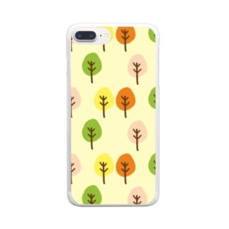 どこかの森 Clear smartphone cases