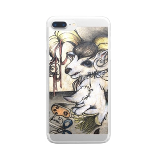 理々井華鈴絵画作品001 Clear smartphone cases
